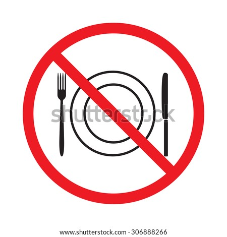 No food or drink sign - stock vector