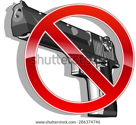 no gun sign. vector illustration 5 - stock vector
