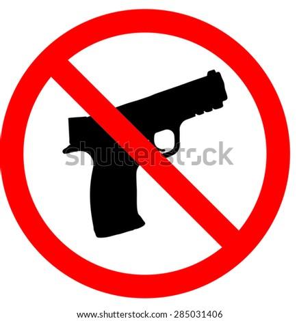 No guns allowed sign illustration vector - stock vector