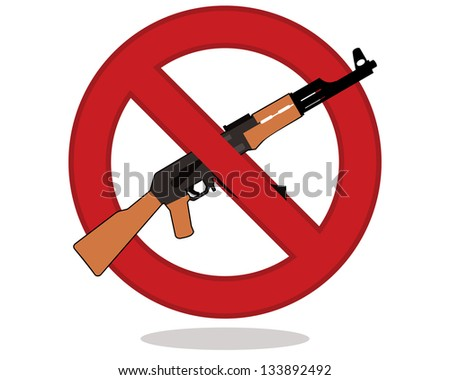 no guns sign isolated on white background - stock vector