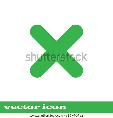 no icon. green icon. eps 10. - stock vector