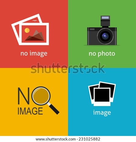 No image signs for web page. Internet icon to indicate the absence of image until it will be downloaded. - stock vector