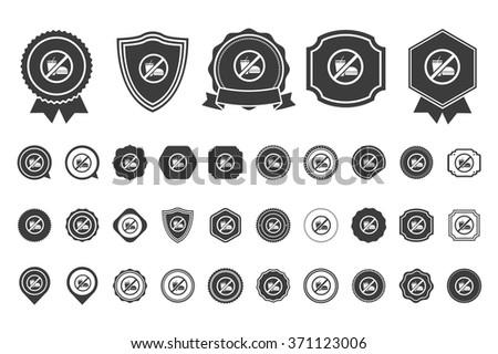no junk food    icon - stock vector