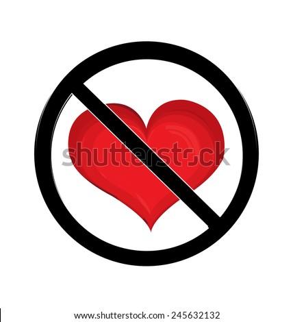 No love sign - stock vector