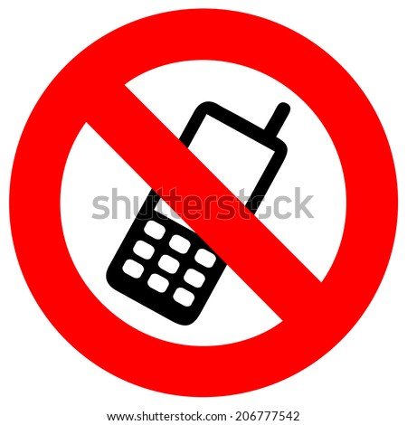 No mobile phone - stock vector