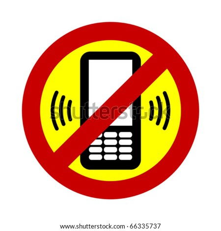 No mobile phone allowed sign. Vector illustration. - stock vector
