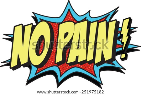 no pain - stock vector