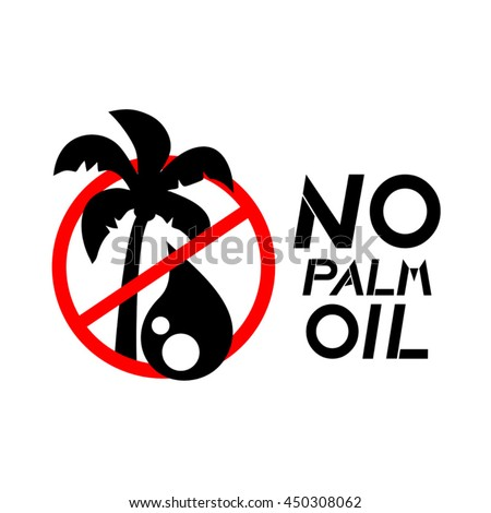 No palm oil sign