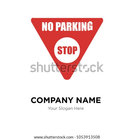 No Parking Company Logo Design Template Business Corporate Vector Icon