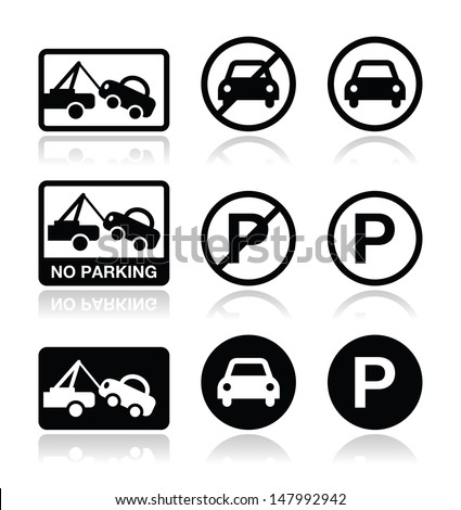 No parking, parking forbidden sign  - stock vector
