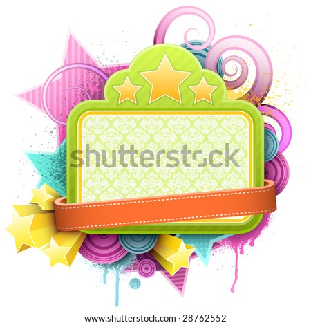 No paths have been trimmed which makes the file easy to edit (for instance you can remove the red banner without leaving a hole in the background). Also available as bitmap (jpg): Image ID 28765861 - stock vector