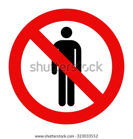No people allowed. No man sign isolated on white background - stock vector