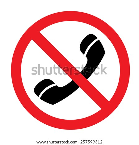 No Phone Sign - stock vector