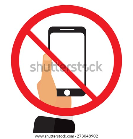 No phone sign vector illustration