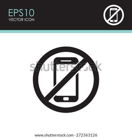 No phone vector icon. - stock vector