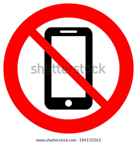 No phone vector sign on white background. - stock vector