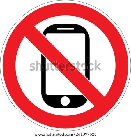 No phone vector sign smartphone - stock vector