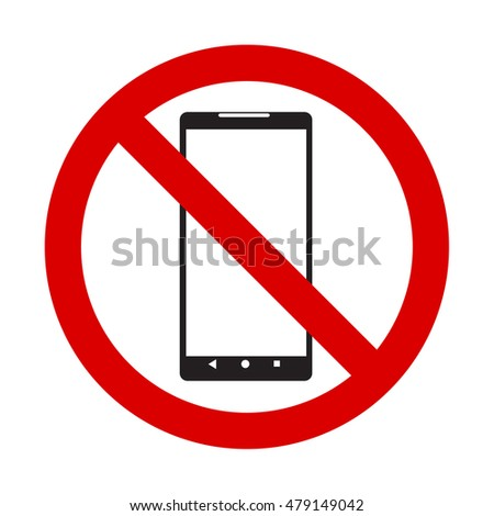 No phone vector sign smartphone