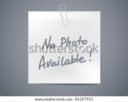 no photo available - paper sticker - horizontal image - stock vector