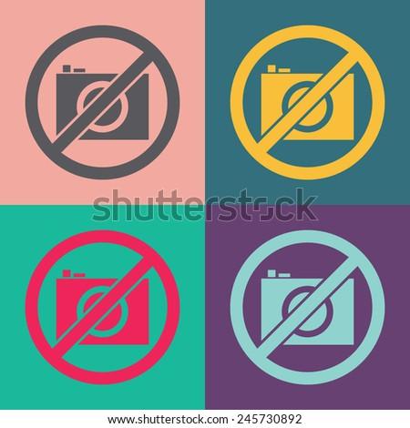 No photo vector icon. - stock vector
