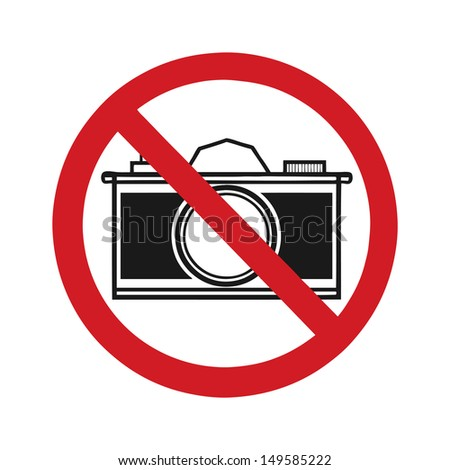no photography allowed sign, vector - stock vector