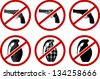 no pistols and grenades. vector illustration - stock vector