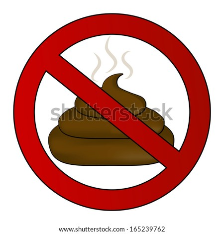 No poop sign - stock vector