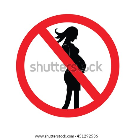 no pregnant woman sign.vector illustration symbol of danger for pregnant women.no entry.prohibit sign.vector illustration.