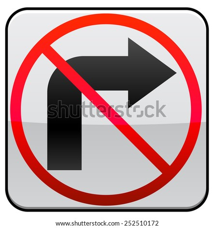 No Right Turn traffic symbol