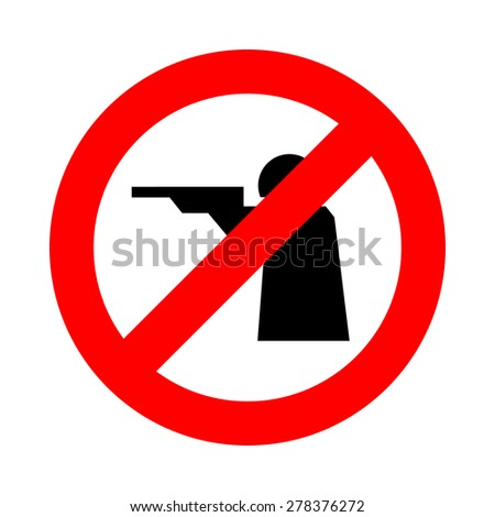 no shoot icon great for any use. Vector EPS10. - stock vector