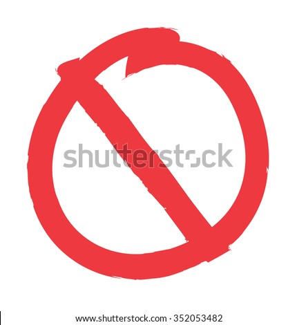 no sign, isolated on white background, vector illustration