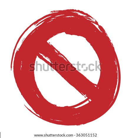 no sign, isolated on white background, vector illustration - stock vector