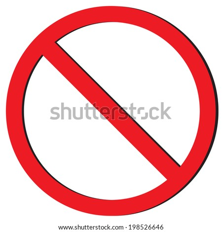 no sign vector - stock vector
