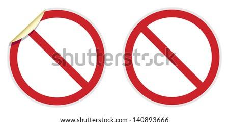 No signs in two vector styles depicting banned activities - stock vector