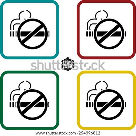 No smoke icon.No smoking sign. Stop smoking symbol. Vector illustration. Icon for public places.  - stock vector