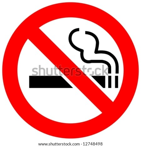 no smoking - stock vector
