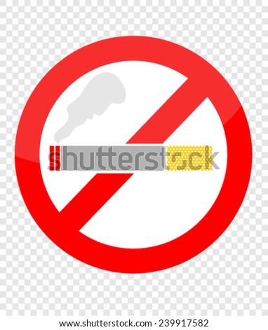 no smoking - stock vector