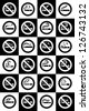 No smoking and Smoking area labels - Big set - stock vector