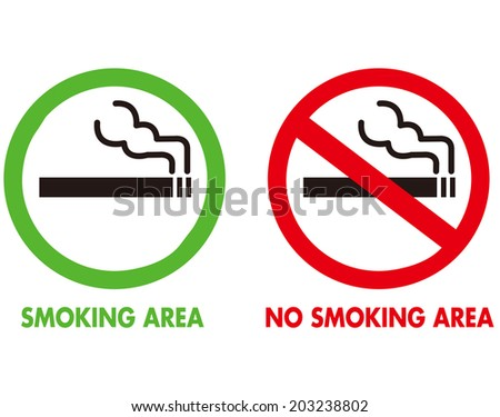 No smoking and Smoking area Vector - stock vector