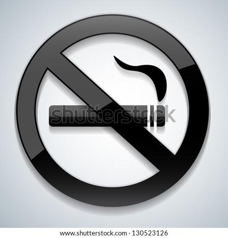 No smoking black - stock vector