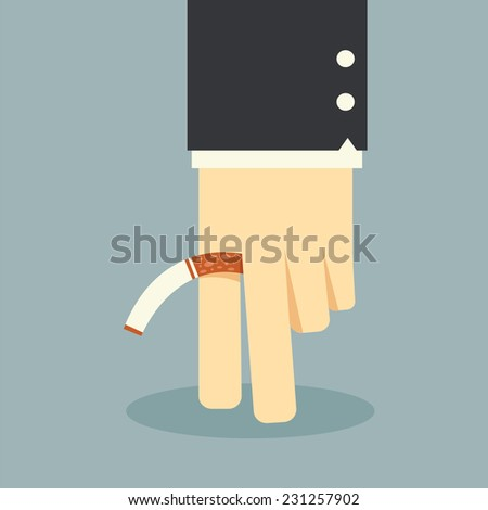 No smoking business hand - stock vector