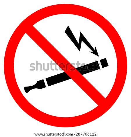 No smoking electronic cigarette - stock vector