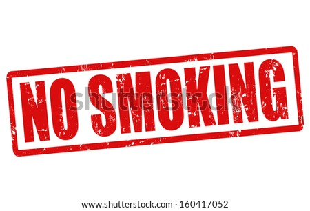 No smoking grunge rubber stamp on white, vector illustration - stock vector