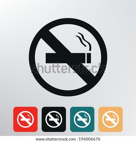 no smoking icon. - stock vector