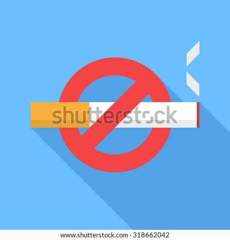 No smoking icon. Flat Design vector icon - stock vector