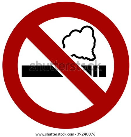 No smoking isolated on a white background.