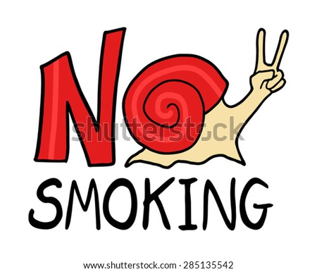 no smoking message - stock vector
