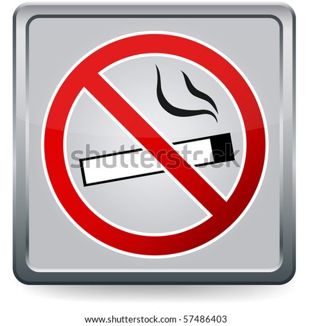No smoking sign, EPS10 vector
