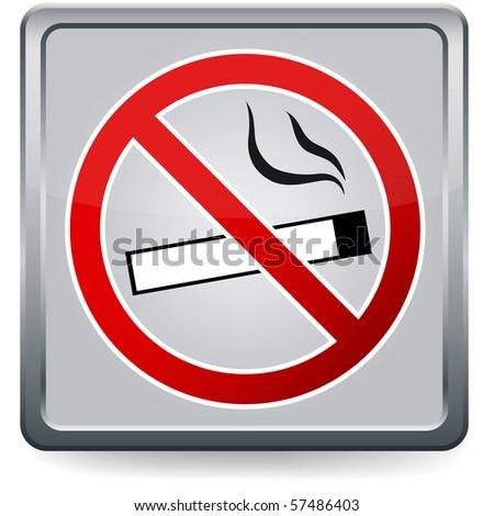 No smoking sign, EPS10 vector - stock vector