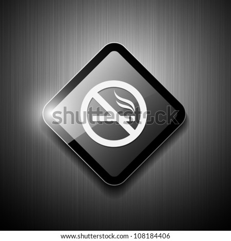 No smoking sign modern design. vector illustration - stock vector